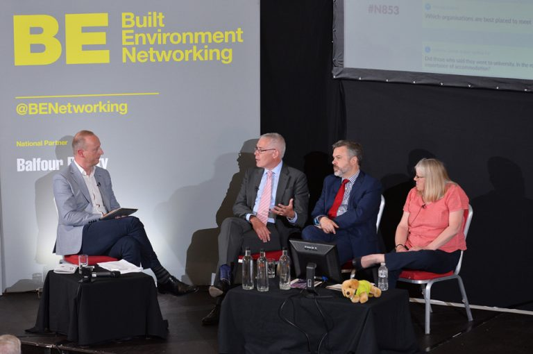 Built Environment Networking Simon Toplass of Pagabo, Peter Horrocks, Professor Linda King and James Rolfe Oxford Cambridge Arc Development Conference 2019