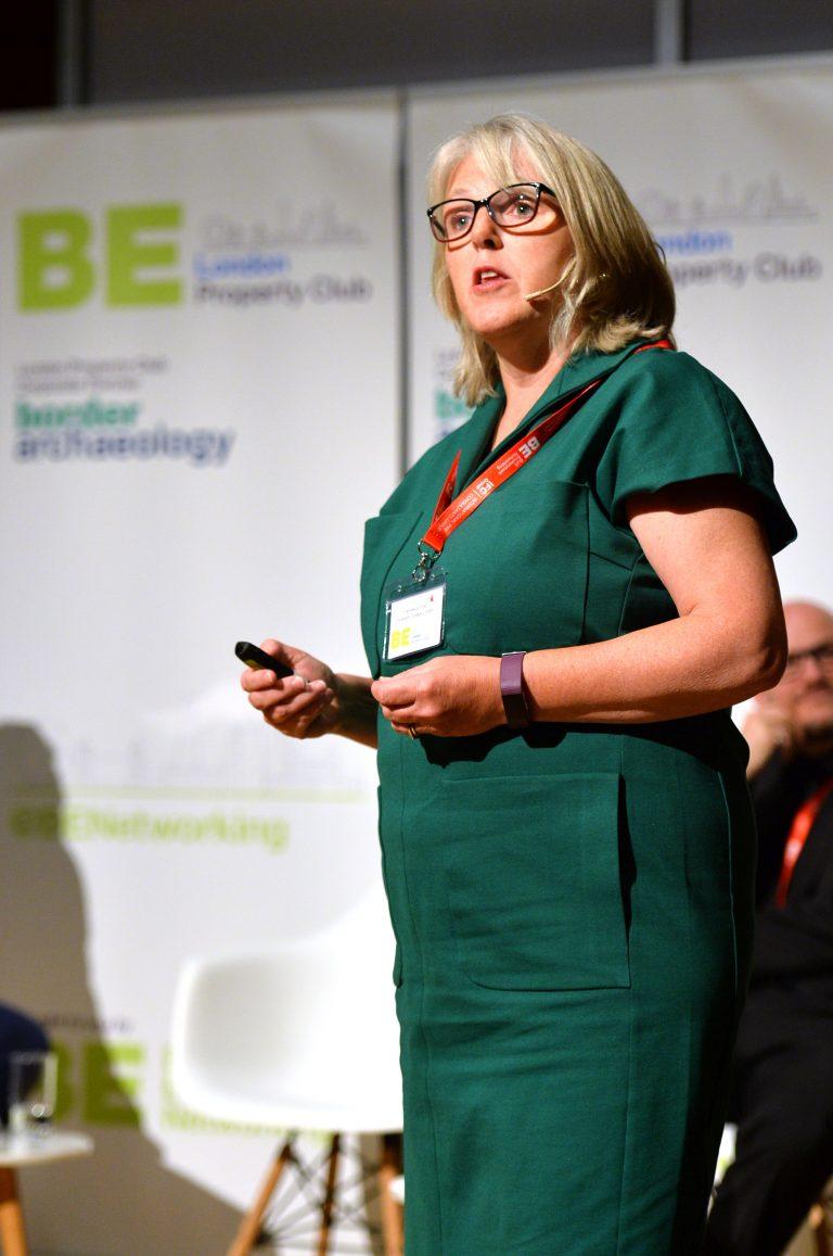 Francesca Fryer speaking at London Property Club Sept 2019