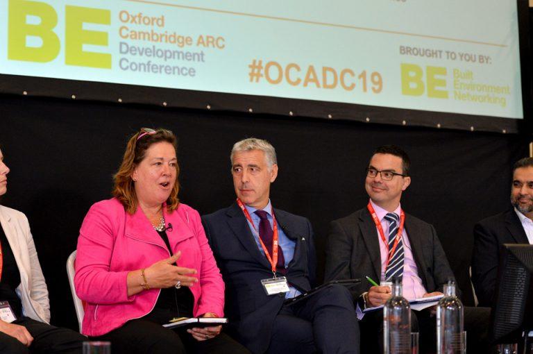 Jo Lancaster, Richard Harrington , Jim Rawlings and Ahmed Goga Oxford Cambridge Arc Development Conference 2019