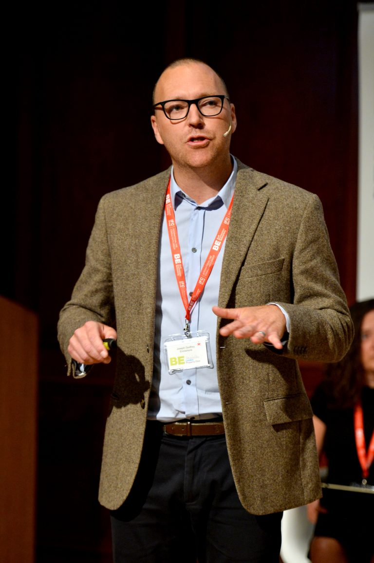 Joseph Godfrey a director of Ennismore speaks at London Property Club 2019