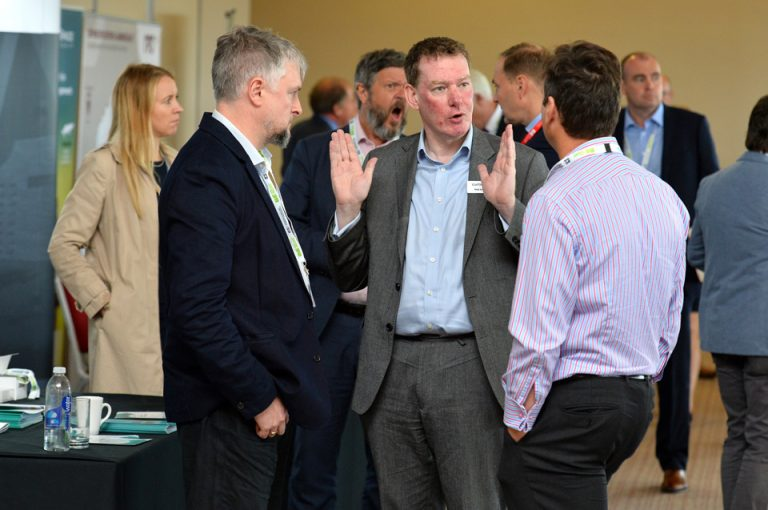 Networking Area in Oxford Cambridge Arc Development Conference 2019 Attendee's discuss business