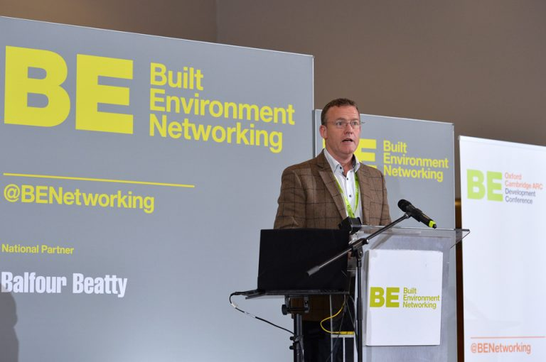 Phil Laycock of Built Environment Networking Oxford Cambridge Arc Development Conference 2019