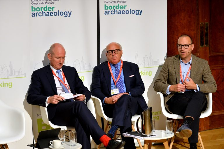 Rupert Waters, John Baker and Joseph Godfrey at London Property Club 2019