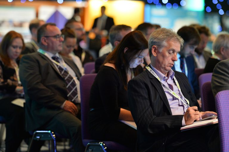 Attendee's watch the Investing in Scotland Panel at Scotland Development Conference 2019