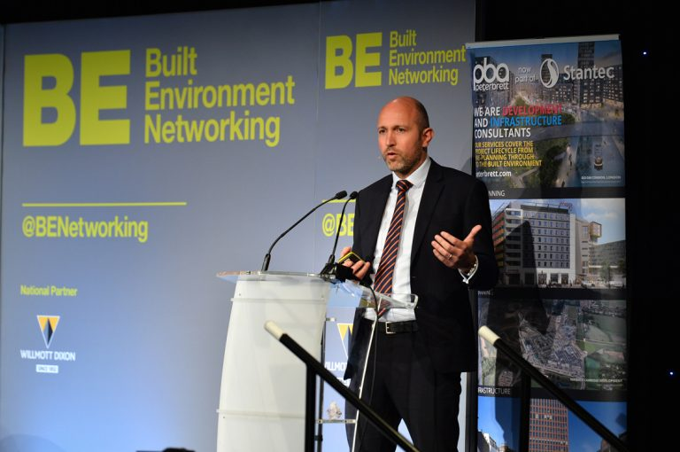 Ross Nimmo of Glasgow Airport speaks at Scotland Development Conference