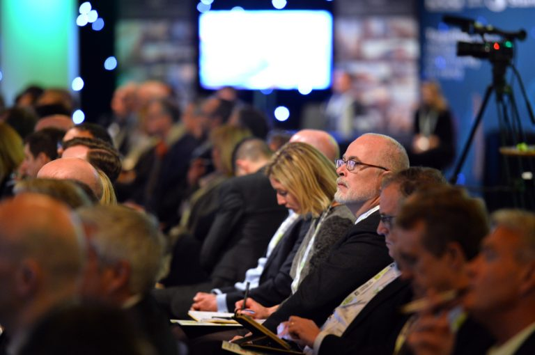 Attendees watch on as the final panel's begin at the Scotland Development Conference Dougie McDonald At Scotland Development ConferenceDevelopment in Scotland for Scotland Development Conference 2019