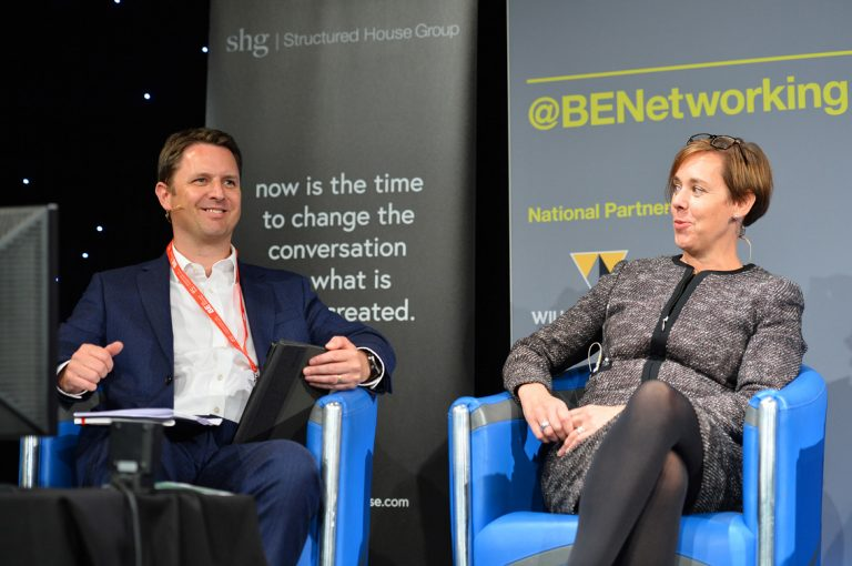 Michael Halliday and Nicola Barclay at Scotland Development Conference