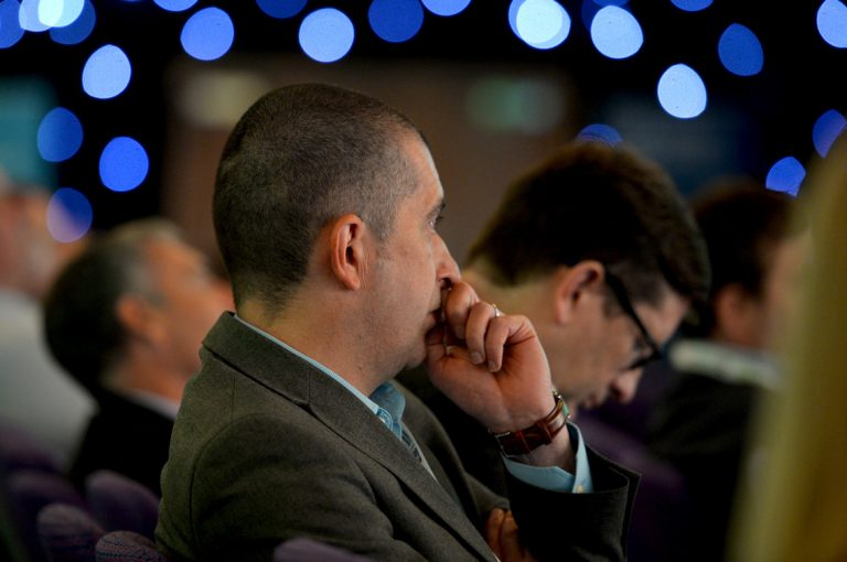 Attendee's watch the Built Environment Networking Conference in Scotland