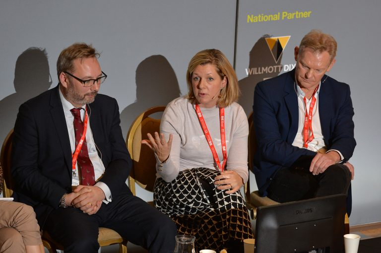 Dave Codling , Olivia Colling and Paul Kempe at High Streets Development Conference. 30.10.19