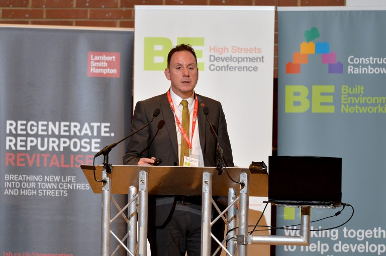 Rob Stewart of Swansea Council High Streets Development Conference. 30.10.19