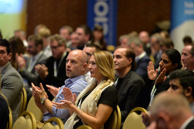Attendee's discuss business High Streets Development Conference. 30.10.19