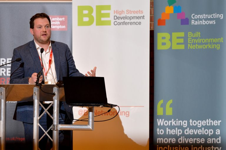 Seb Slater of Shrewsbury BID High Streets Development Conference. 30.10.19