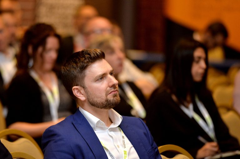 Attendee's watch on as the panel answer questions from SlidoHigh Streets Development Conference. 30.10.19