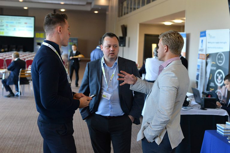 Networking at MK Dons Sheds and Logistics Development Conference