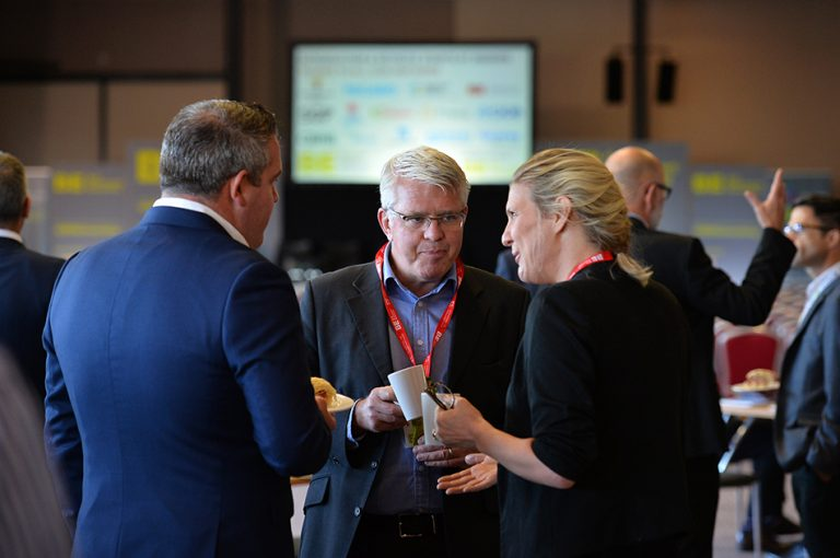 Speakers Discuss the day at Sheds and Logistics
