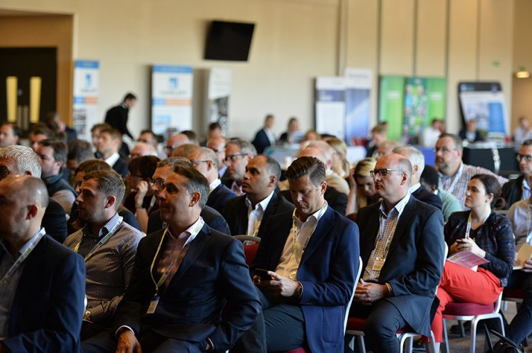 Attendee's seated ready for Sheds and Logistics Conference 2019 to begin