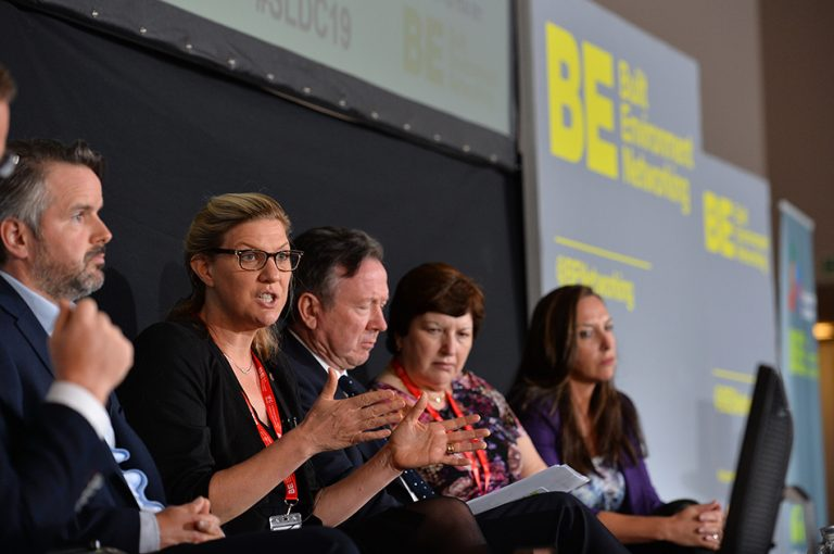 Danielle Sheppard, Rod McKenzie, Sue Terpilowski and Kate Lester at Sheds and Logistics 2019