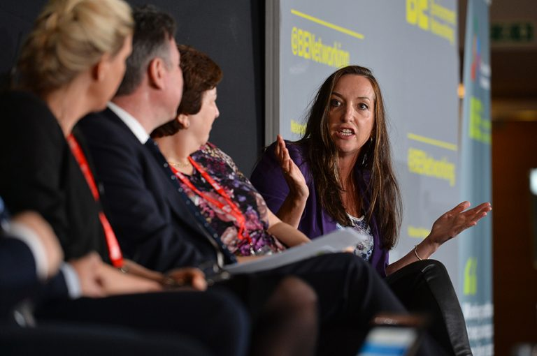 Kate Lester of Diamond Logistics answers a question on the panel at Sheds and Logistics 2019