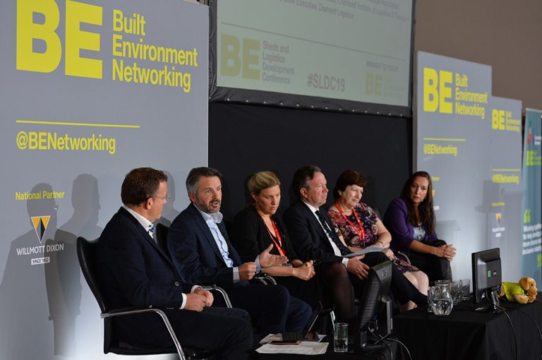 The first panel at Sheds and Logistics Conference 2019
