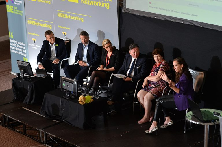 The Panel from above at Sheds and Logistics Conference 2019 Construction Networking