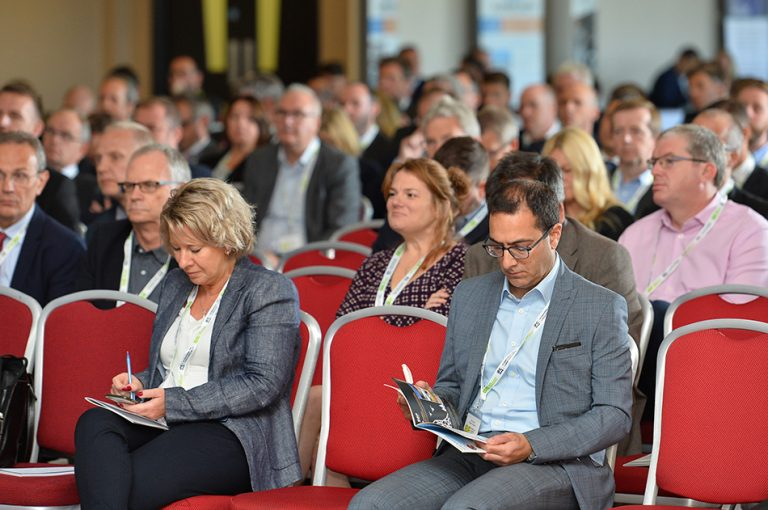Attendee's make notes at Sheds and Logistics Conference 2019