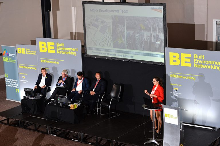 Rebecca Cunningham of Network Rail speaks at Sheds and Logistics Conference 2019