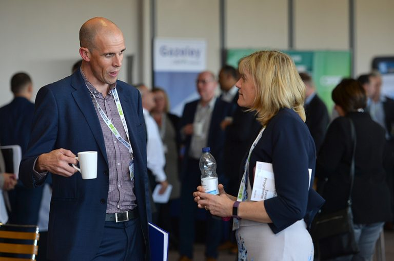 Attendee's discuss business