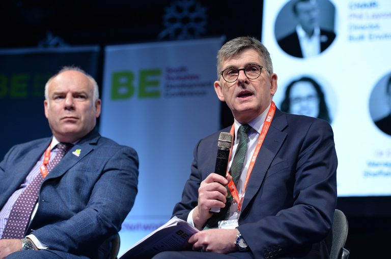 Dr Dave Smith and Tim Wood at Sheffield City Region Development Conference