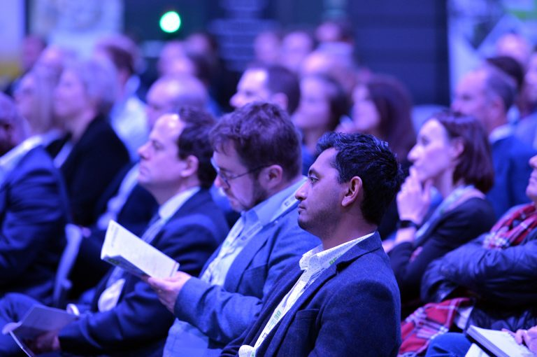 The crowd listens to the speakers at Sheffield City Region Development Conference