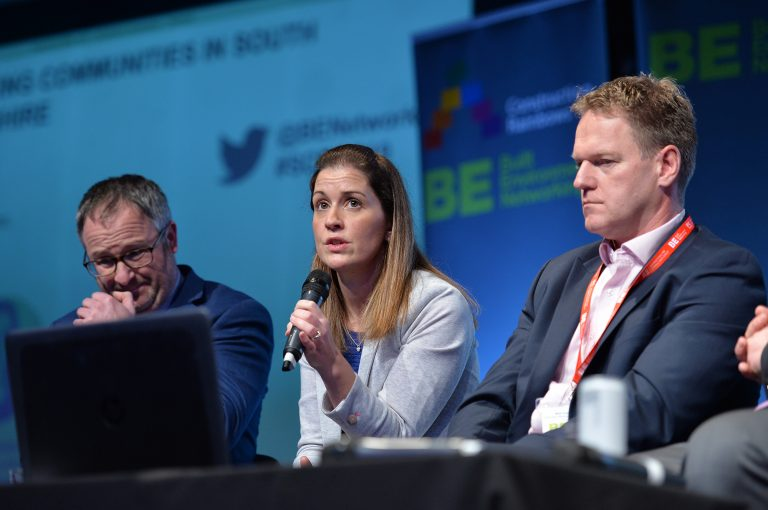 Helen Spencer speaks as part of the question panel at Sheffield City Region Development Conference