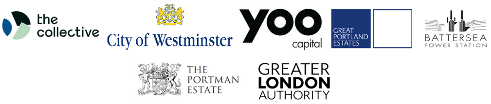 Logos London Property Club Yoo Capital Greater London Authority Westminster Portman Estate