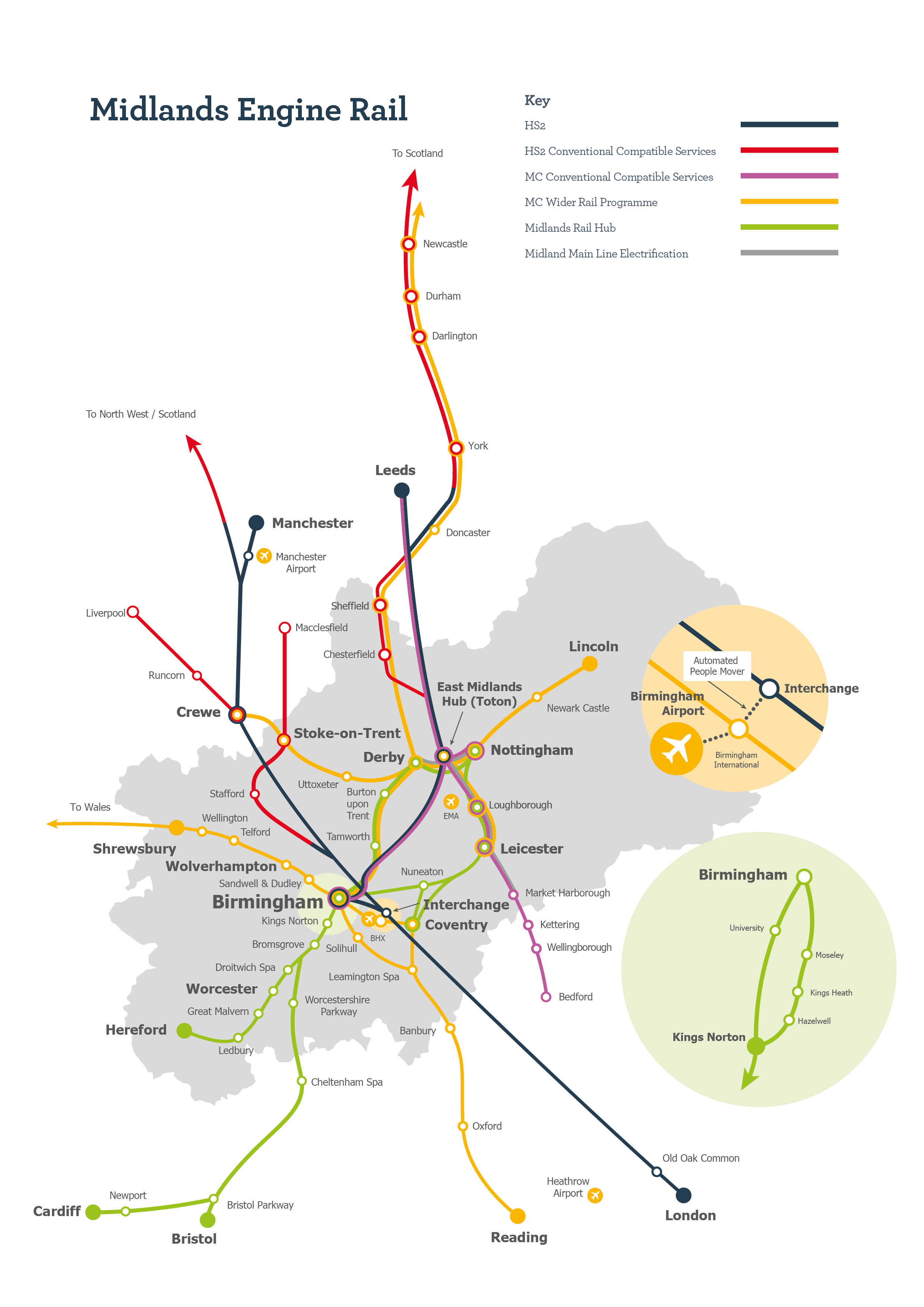 Midlands Engine Rail Map
